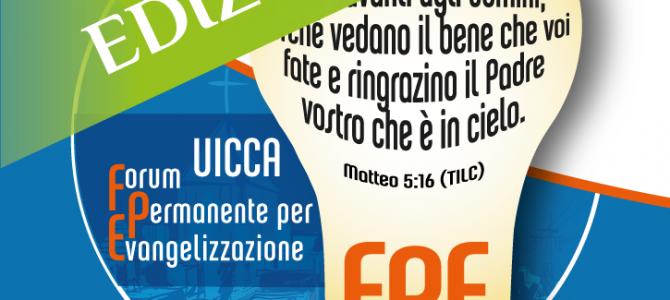 FPE 2017 – Forum Permanente per l'EvangelizzazioneTerza edizione